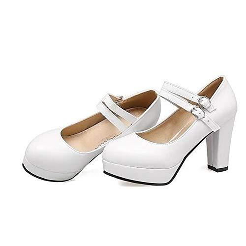 ZHZNVX Pink Women's Heel Black Heels Fall Pink Comfort White PU Stiletto Polyurethane nUxvBrqSdn