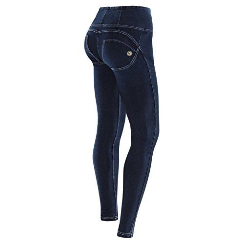 Fred Perry Pantalon WR.UP? Skinny Taille Haute en Denim lastique - Jeans Fonc-Coutures Blanc - Medium