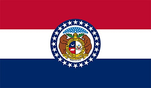 Missouri Flag from SoCal Flags 3x5 Foot Polyester Missouri State Flag - Sold by A Proud American Company - Durable 100d Material Not See Thru Like Other Brands Weather Resistant