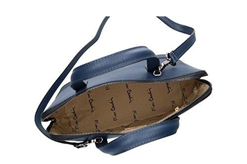 fc66c3ce45765 Pam Shop Tasche Damen mit Schultergurt Pierre Cardin Blau Leder Made in  Italy VN119 ...