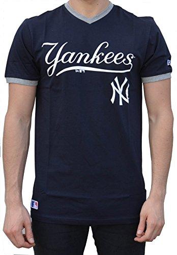20dc4010c7383 A NEW ERA Era Ne96423Fa16 MLB Ringer tee Neyyan Camiseta Manga Corta-Línea York  Yankees