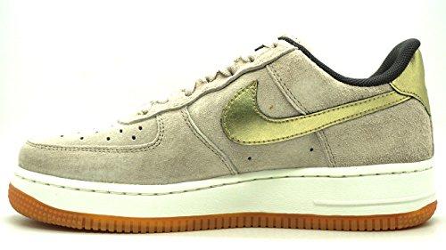 Nike W Air Force 1 '07 Prm Suede, Zapatillas de Deporte para Mujer Gris (String / Mtlc Gold Grain)