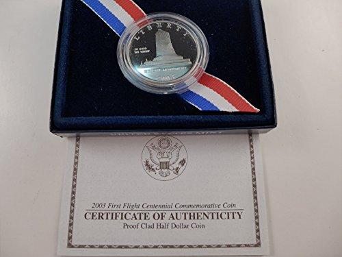 (2003 US Mint First Flight Centennial Commemorative Proof Clad Half Dollar Half Dollar Mint State US Mint)