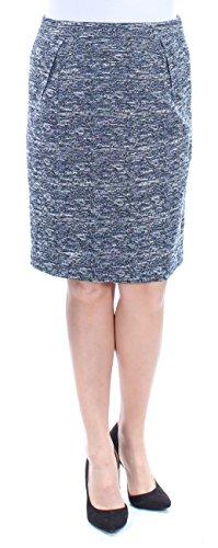 Tommy Hilfiger Women's Tweed Straight Pencil Skirt Blue ()