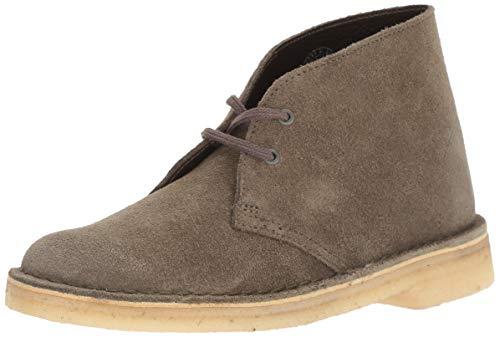 Clarks Suede Boots - CLARKS Women's Desert Boot. Chukka, Olive Suede, 75 M US