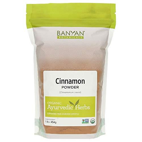 Banyan Botanicals Organic Cinnamon Bark Powder - Certified USDA Organic, 1 lb - Cinnamomum cassia - Delicious Cooking Spice with Tremendous Health Benefits