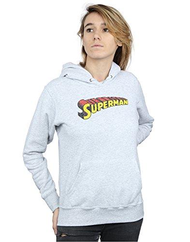 Logo Mujer Cuero Superman Crackle Telescopic Dc Capucha Gris Comics XAnaF0WW5P