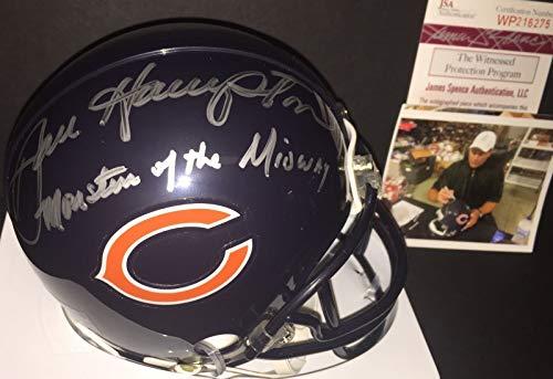 Midway Signed Replica Helmet - Dan Hampton Chicago Bears Signed Mini Helmet MONSTERS OF THE MIDWAY JSA WITNESS COA