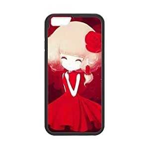 Cute Anime Gril Personalized Custom Phone Case For iPhone 6 4.7 Plastic and TPU Case Cover Skin