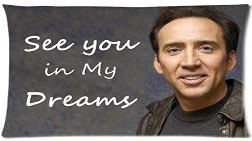 Amazon.com: Funda de almohada personalizada de Nicolas Cage ...