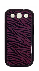 Custom Cover Case with Hard Shell Protection case for galaxy s3 - Black and white zebra print close