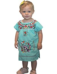 Embroidered Mexican Youth Girls Dress