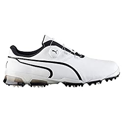 Puma Men's Titantour Ignite Disc Golf Shoe, White Black, 10 Medium Us