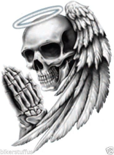 ANGEL DEATH SKULL BUMPER STICKER HELMET STICKER LAPTOP STICKER TOOL BOX STICKER
