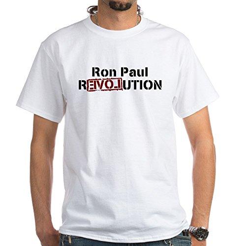 CafePress Ron Paul Revolution White T-Shirt 100% Cotton T-Shirt, ()