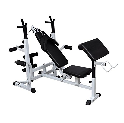 SKB Family Multi Use Weight Bench New Home Gym Workout Exercise Training Fitness Equipment by SKB Family