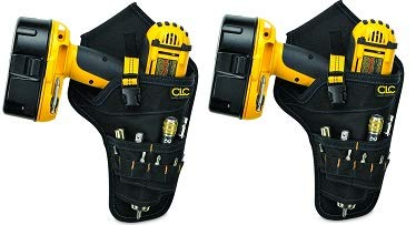 CLC 5023 Deluxe Cordless Poly Drill Holster, Black (2-(Pack))