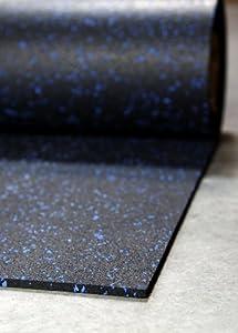 Amazon Com Incstores 1 4 Quot Tough Rubber Roll Blue Fleck