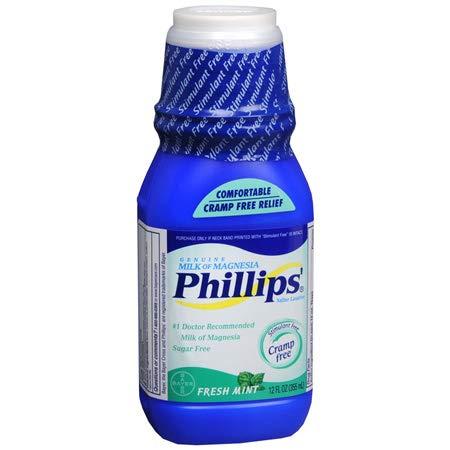 Of Phillips Mint Milk Fresh Magnesia - Phillips Milk of Magnesia Fresh Mint - 12 oz, Pack of 2