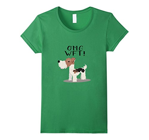 Terrier Wire - Womens OMG WFT! Wire Fox Terrier Shirt XL Grass