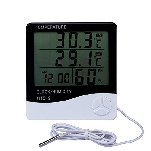 Indoor Outdoor Digital Humidity Temperature Thermometer Sensor