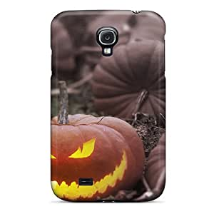 Awesome Pumpkin Patch Flip Case With Fashion Design For Galaxy S4