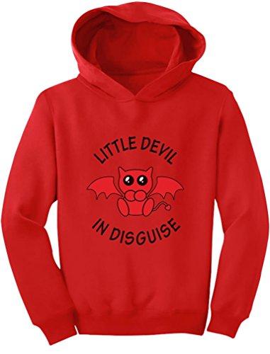 TeeStars - Little Devil in Disguise Easy Halloween Costume Toddler Hoodie 4T (Devil In Disguise Halloween Costume)
