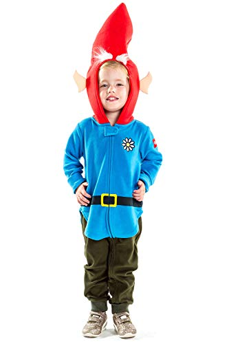Children's Garden Gnome Halloween Costume - Kids Infant Baby Lawn Gnome Costume: 18-24M Blue]()