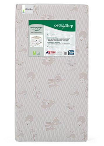 Simmons Kids BeautySleep Woodland Dreams with Air Sleep Comfort Crib and Toddler (Simmons Firm Mattress)
