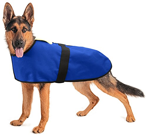 All Seasons Winter Dog Coat Vest with Velcro Strap for Very Large Dogs (XLarge - Blue) by All Seasons Products, Inc.