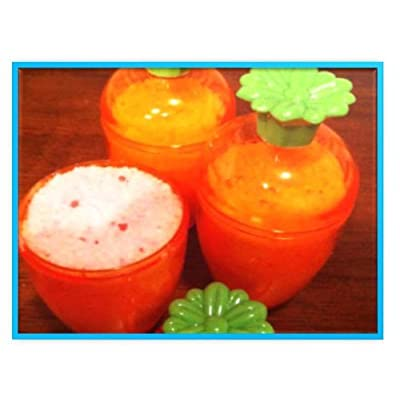Clear Orange Carrot Shaped Easter Eggs 3 Fillable Treat Containers: Toys & Games