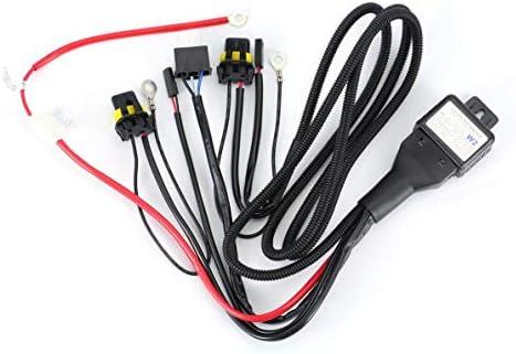 Universal 35W 12V Xenon faro arnés de cableado Hi/Lo HID Relé de ...