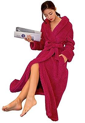 No.66 Town Premium Flannel Microfiber Fleece Thick Full Length Bathrobe Robe