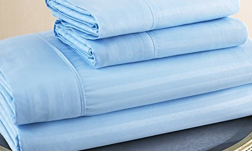 Bedding 4 PCs Sheet Set 100% Pure Cotton 600 Thread Count Fi