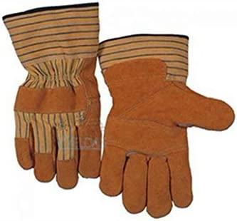 HAPzfsp 手袋 ヘビーデューティー産業用安全手袋牛革レザーグローブジュエリー/運転/乗馬/園芸/農園 - 非常に柔らかく、吸汗性/ 25x8cm(10x3.2インチ) グローブ保護手袋、仕事、農場