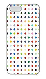 Colorful Circle Custom PC Hard Plastic Case for iPhone 5/5S Transparent