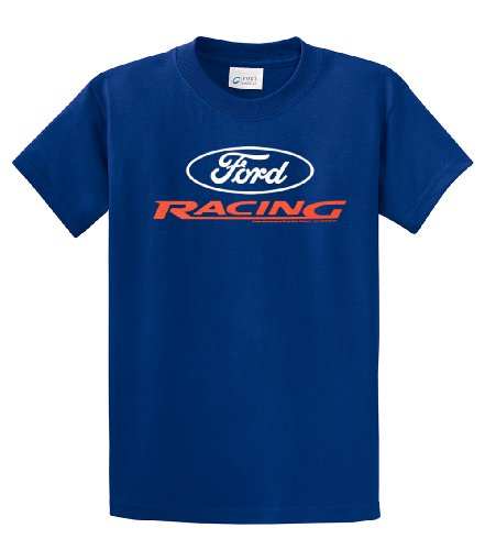 Ford Racing T-shirt Ford Racing Logo Design-royal-xxxl