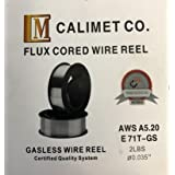 "Calimet E71T-GS Carbon-Steel Gasless Flux Cored Welding Wire 2LBS, 0.035"" (0.035"" 2lb)"