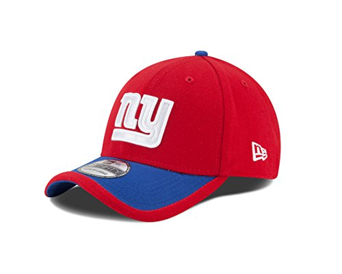 New York Giants Cap (NFL New York Giants 2015 Reverse 39Thirty Stretch Fit Cap, Small/Medium, Red)