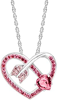 Crystaluxe Arrow Heart Pendant
