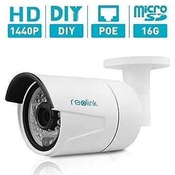 Reolink Home Security Outdoor Indoor IP Surveillance Camera Bullet Cam w SD Card