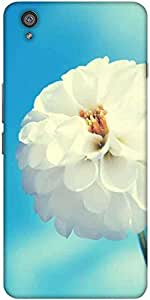 Snoogg Flower White Designer Protective Back Case Cover For One Plus X