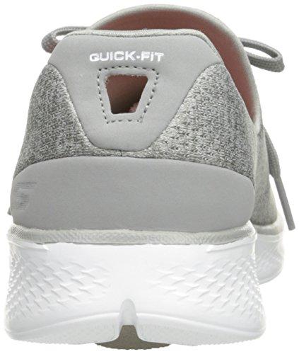 Walk Baskets A 4 Basses Femme Skechers c d Go Gris q56PnP