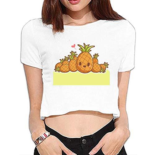 YLJH Womens Casual Basic T Shirt Header Pineapple Short Sleeve Tee Shirt