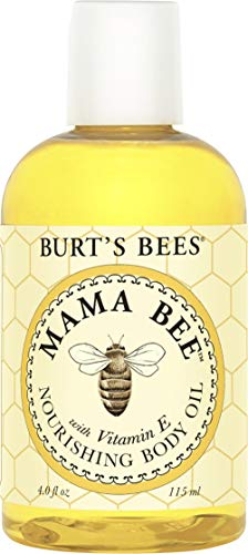 Burt's Bees 100% Natural Mama Bee Nourishing Body Oil, 4 Fl Oz (Belly Burts Oil Bees)