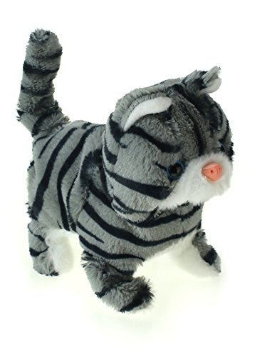 My Lovely Pet Cat Series - Battery Operated Toy Cat w/ Forward Walking Motion, Curling Tail, & Sound (Colors & Styles May Vary) -