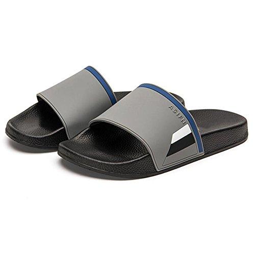 XIAOLIN Baño de verano antideslizante zapatillas de baño Inicio Hogar interior y exterior versión coreana de la marca Zapatillas de hombre (varios colores disponibles) (tamaño opcional) ( Color : 03 , 02
