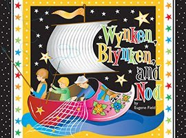 Wynken Blynken & Nod Cotton Fabric Panel - Designed by Nancy Smith & Lynda Milligan Diane Eichler (Great for Quilting, Sewing, Craft Projects, Quilt or Throw Pillows) 23