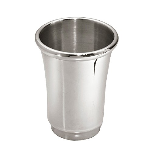 InterDesign Neo Tumbler Cup for Bathroom Vanity Countertops - Brushed Stainless Steel