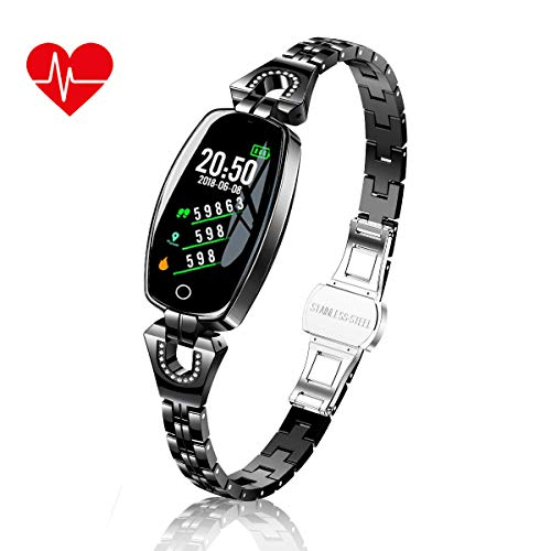 TMYIOYC Fitness Tracker, Smart Bracelet for Women, Activity Tracker Watch with Pedometer, Message Notification, Heart Rate Monitor, Sport Tracker, Sleep Monitor, Blood Pressure Fitness Band Watch
